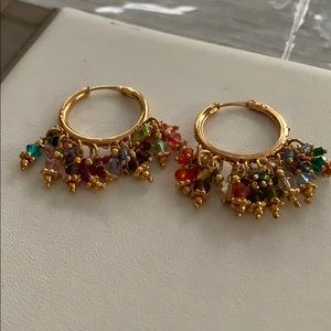 Small Ornate Hoop Earrings